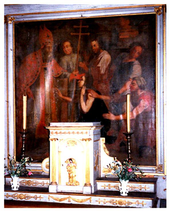 Tableau dans l'église d'Arsonval (Aube - France)