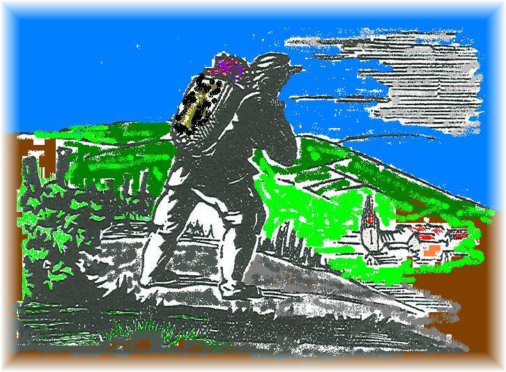 Le vigneron sur les coteaux des Bonnes Vignes d'Arsonval