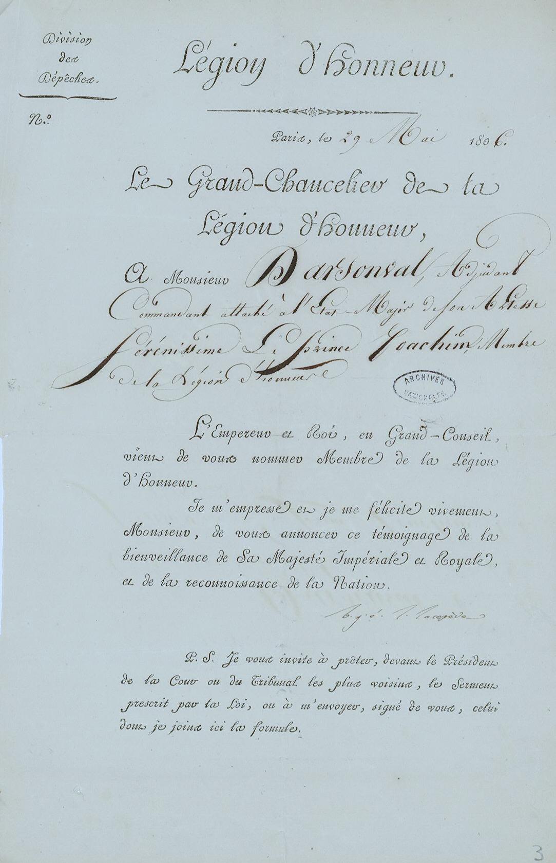 Légion d'Honneur 1806