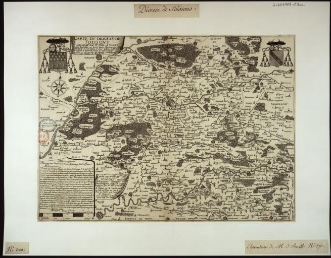 Carte de la généralité de Soissons