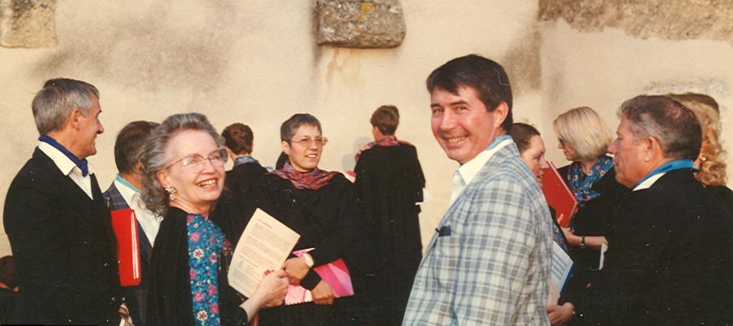 Jean-Claude Darsonval et ses collègues choristes