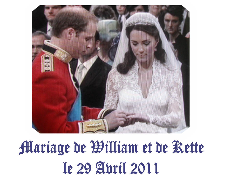 Le mariage du prince William d'Angleterre et de Kette Middleton