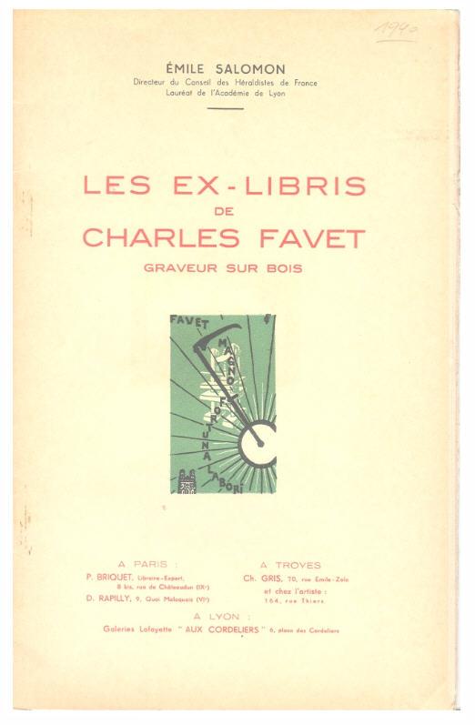 Les Ex-Libris de Charles Favet