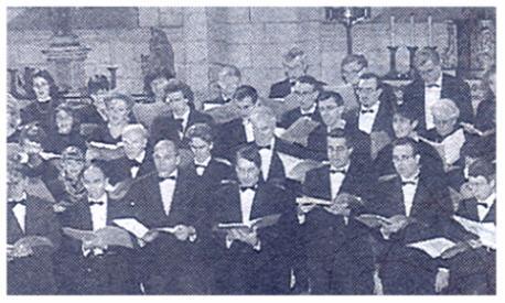 Les Ténors et les Basses lors de la Messe en Ré de Dvoràk
