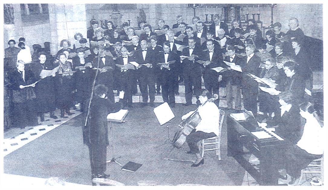 Le choeur et le petit ensemble de solistes de la Messe en Ré de Dvoràk