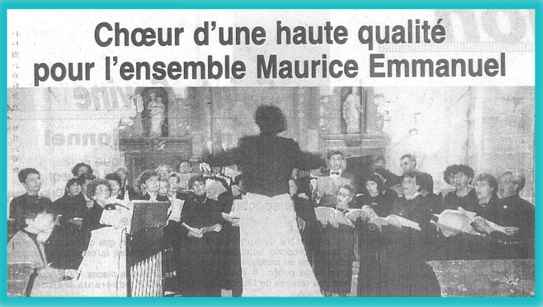 Le Choeur Maurice Emmanuel