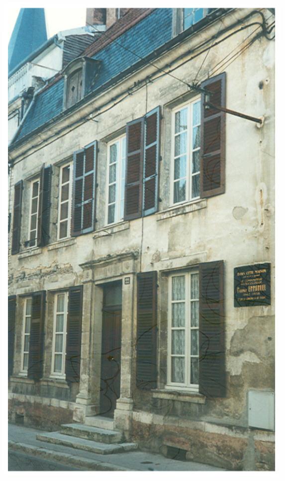 Lieu de naissance de Maurice Emmanuel à Bar-sur-Aube (aube)