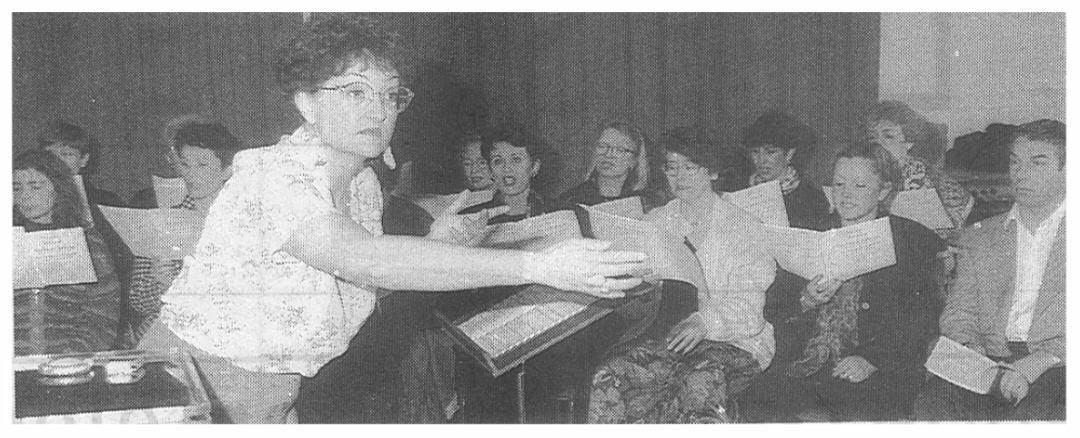 Françoise Ricordeau lors d'une répétition