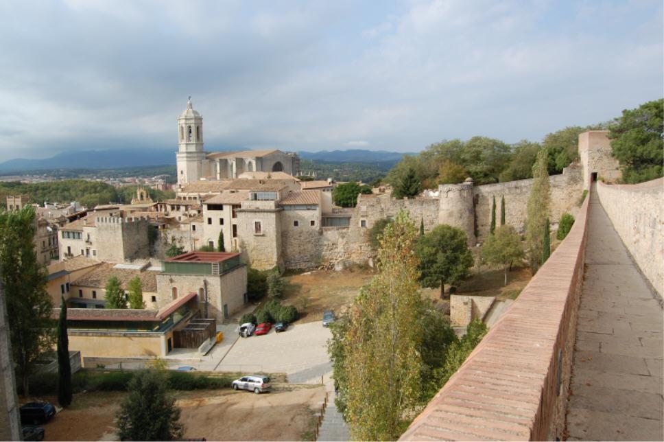 Les murailles de Gironne (Espagne)
