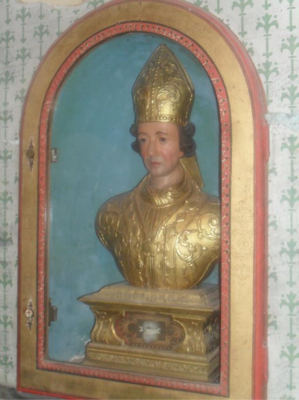 Le buste de Saint-Loup (évêque de Troyes, Aube)