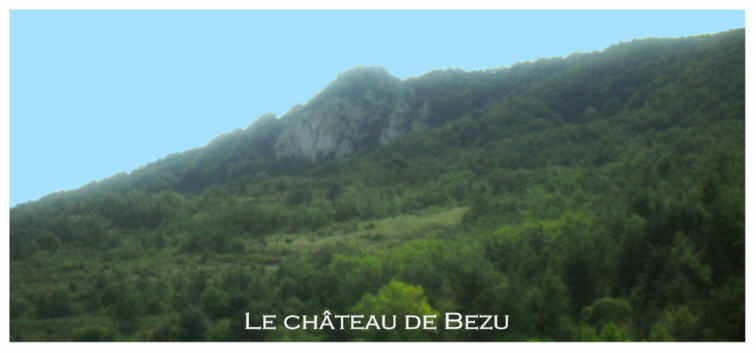 Roc où se trouve le château de Bezu