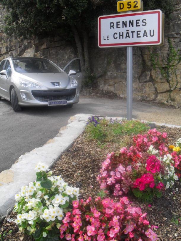 L'entrée Est du village de Rennes-le-Château