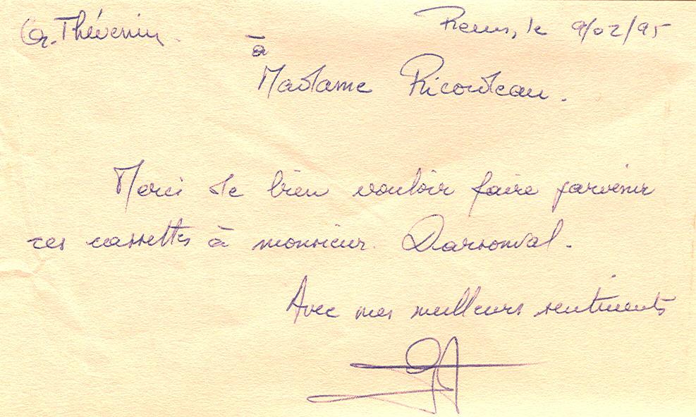 Mot de Gérard Thévenin